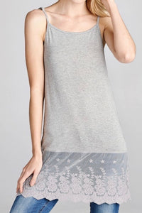 Grey Top Extender with Adjustable Straps