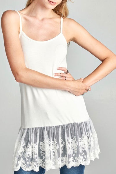 Top Extender with Adjustable Straps in Off-White