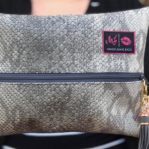 Makeup Junkie Bags: Grey