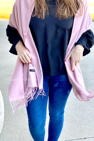 BB Cashmere Blend Scarf in Pink