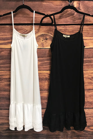 Dress Slip + Extender in Black