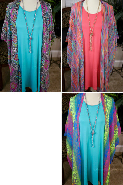 Colorful Beachy Kimonos *Brights