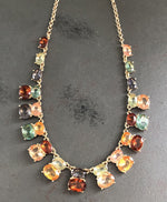 Colorful Rhinestone Crystal Necklace