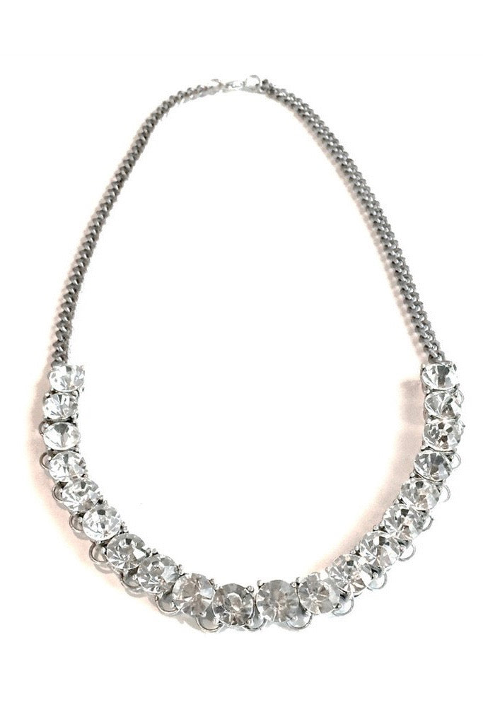 Single Row Crystal Necklace