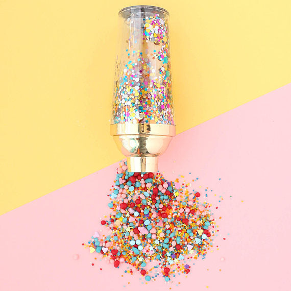 Confetti Filled Cocktail Shaker