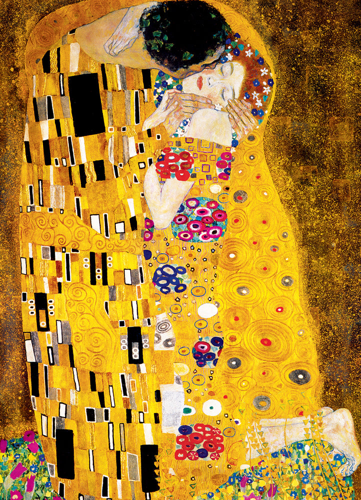 The Kiss by Gustav Klimt 1000-Piece Puzzle, Fine Art Masterpieces, Lovers Puzzle