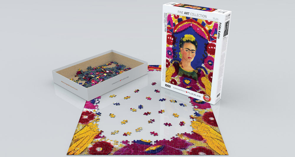 Self-Portrait - The Frame, by Frida Kahlo 1000-Piece Puzzle