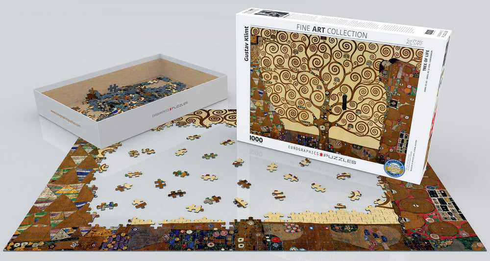 Tree of Life by Gustav Klimt 1000-Piece Puzzle, Fine Art Puzzle