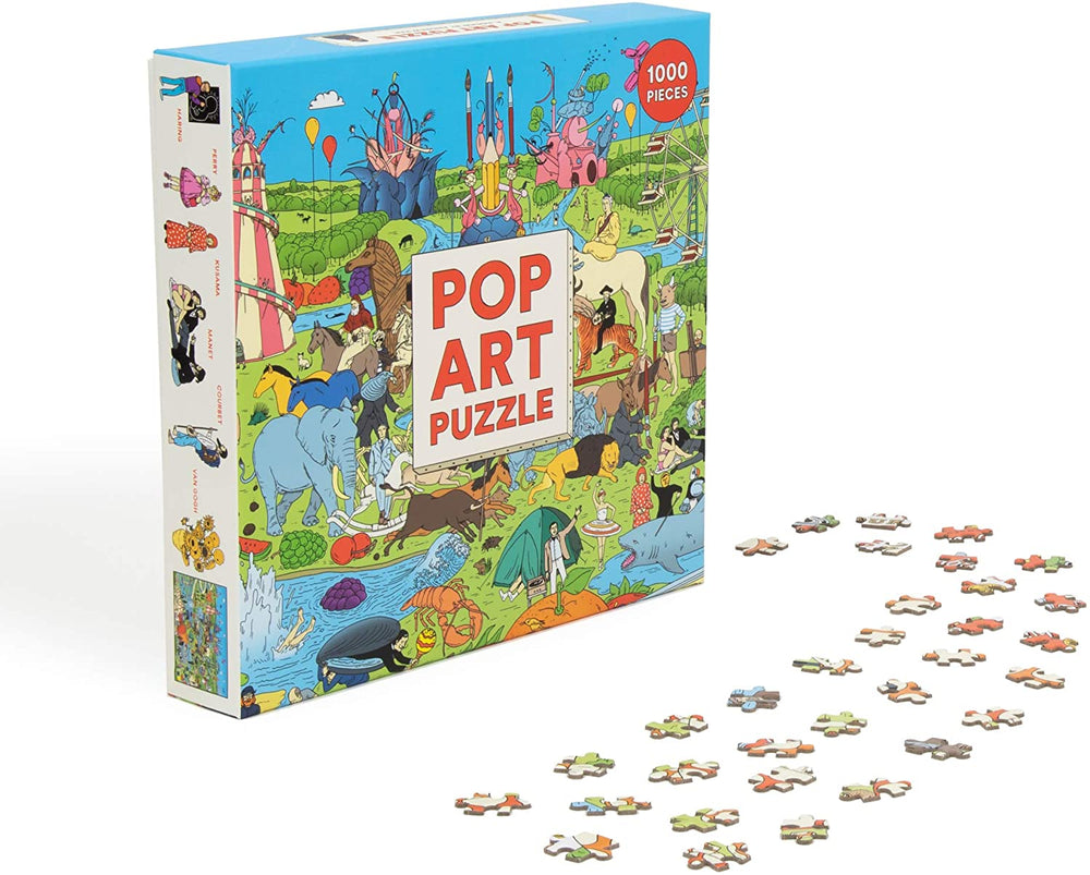 Pop Art Puzzle - Make The Jigsaw and Spot The Artists - 1000 Piece Jigsaw Puzzle