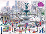 Michael Storrings Bethesda Fountain Jigsaw Puzzle, 1000 Piece - Illustrated Art Puzzle with Scene from a Central Park Landmark