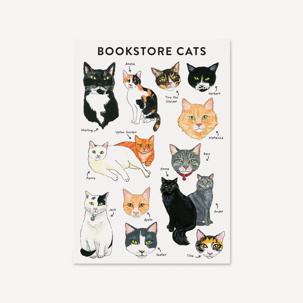 Bibliophile Flexi Journal: Bookstore Cats