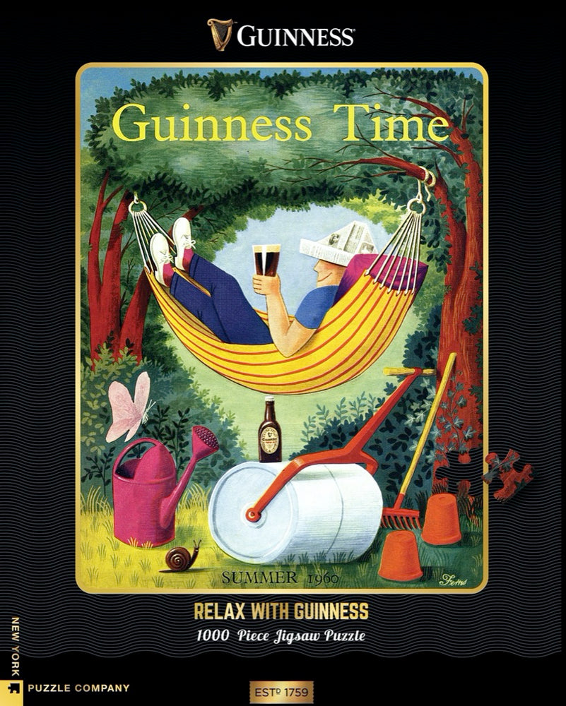 Relax with Guinness 1000 Piece Jigsaw Puzzle, Vintage Guinness Advertisement