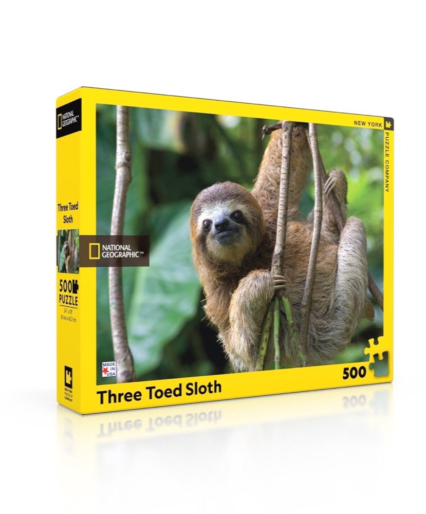 Three Toed Sloth 500 Piece Jigsaw Puzzle