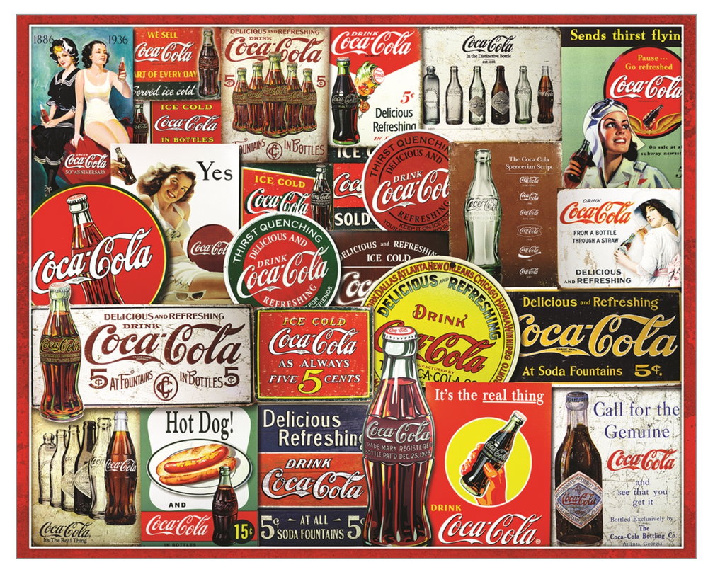 Coca-Cola Tin Signs 1000 Piece Jigsaw Puzzle