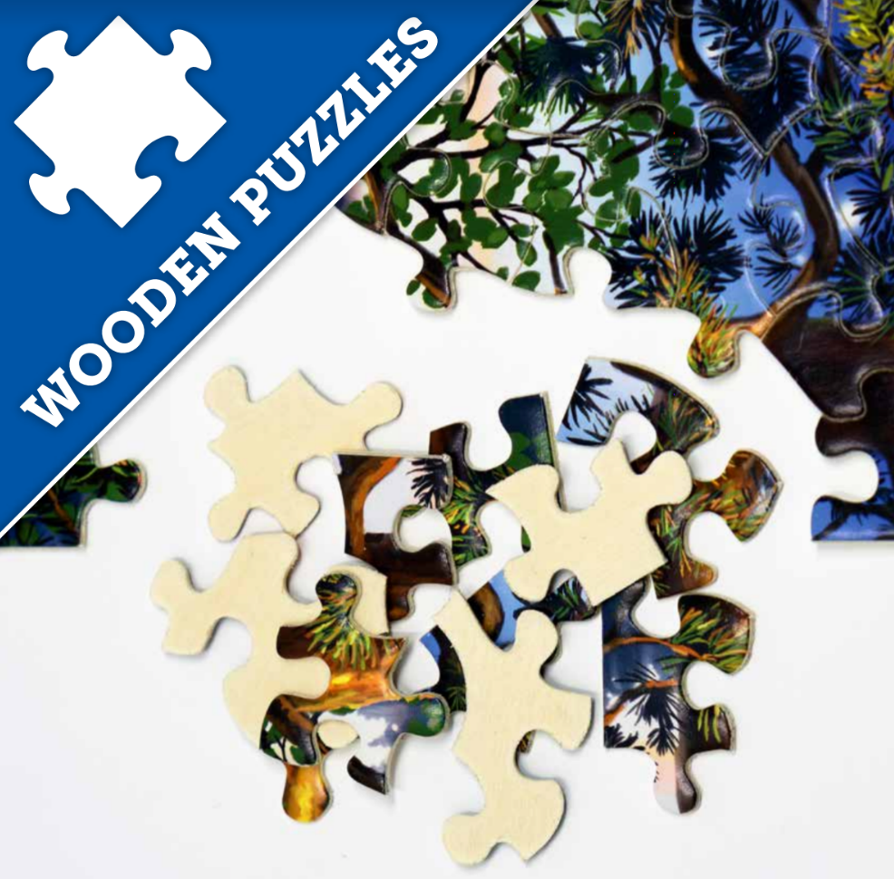 LAKESIDE 500 PIECE WOODEN JIGSAW PUZZLE