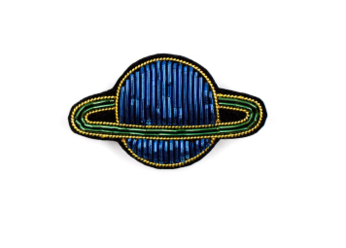"HAND-EMBROIDERED ""NEPTUNE"" BROOCH"