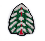 "HAND-EMBROIDERED ""CHRISTMAS TREE"" BROOCH"
