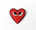"HAND-EMBROIDERED ""HEART"" BROOCH"