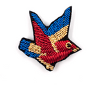 "HAND-EMBROIDERED ""KINGFISHER"" BROOCH"