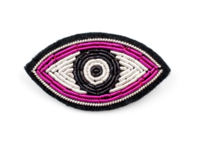 "HAND-EMBROIDERED ""MAYA"" BROOCH"
