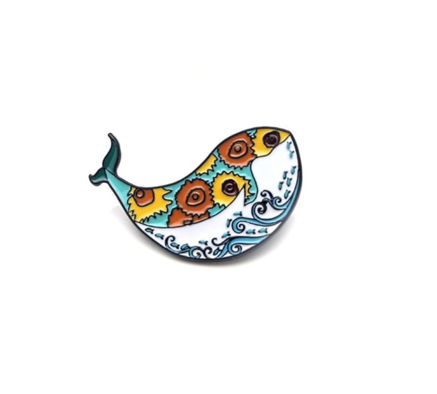 Fish & Sunflower Pin