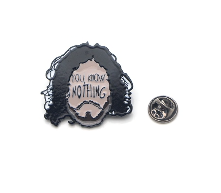 Game of Thrones You Know Nothing Metal Enamel Pins