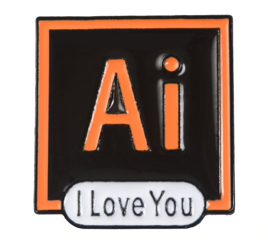 Ai I Love You Pin