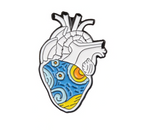12 style Anatomical Heart Enamel Pins Medical Anatomy Brooch Heart Neurology Pins for Doctor and Nurse Lapel Pin Bags Badge Gifts