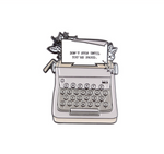 Typewriter Enamel Pin