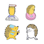 Hedgehog Daily Enamel Pin