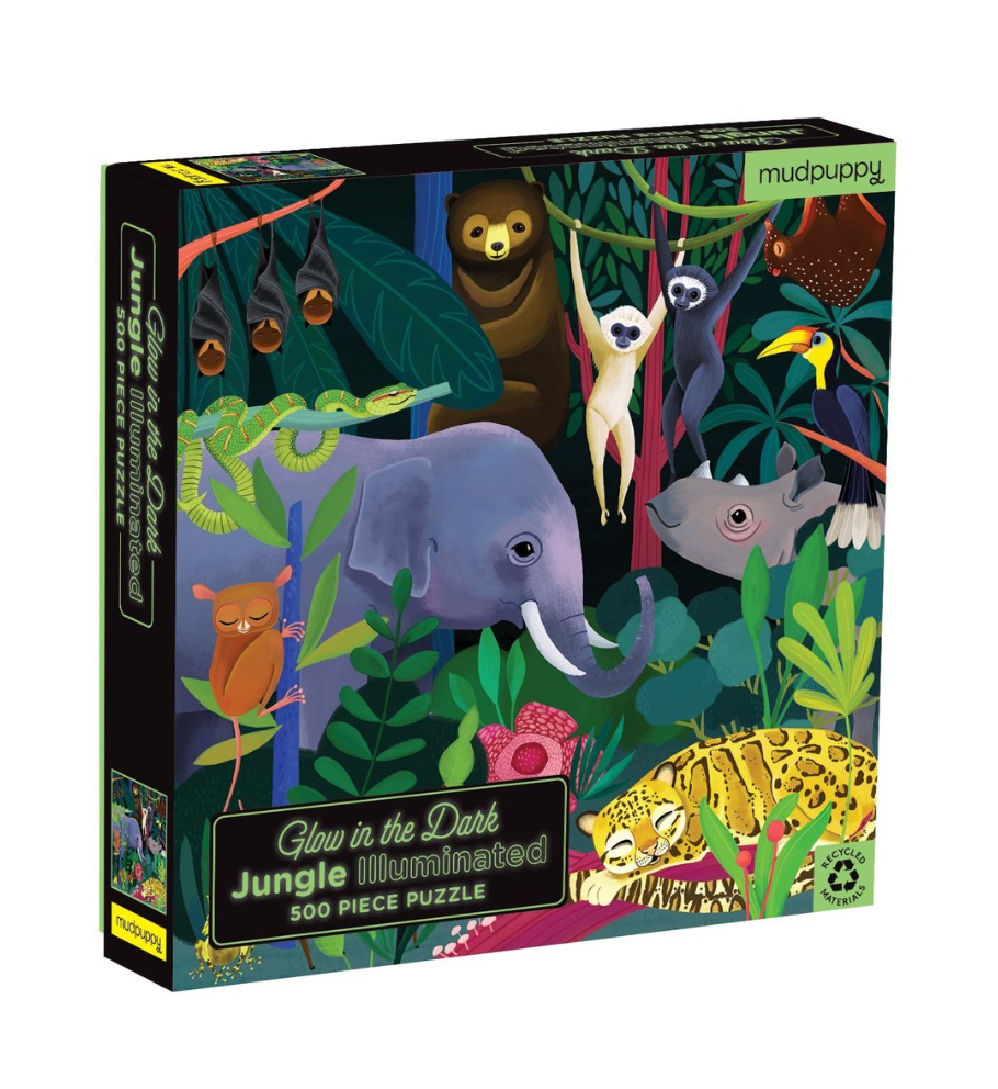 JUNGLE ILLUMINATED 500 PIECE GLOW IN THE DARK PUZZLE