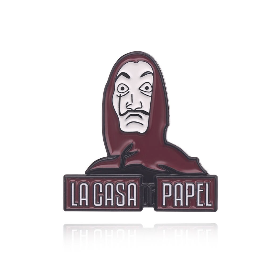Punk La Casa De The House of Paper Enamel Pins