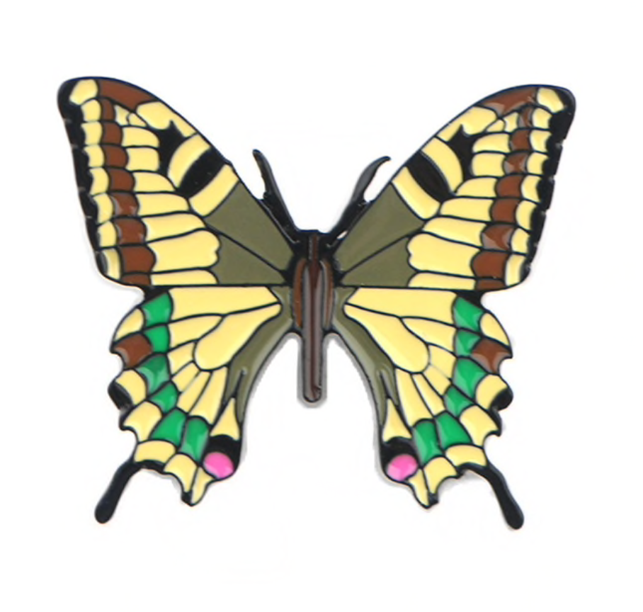 Butterfly Moth Metal Enamel Pins