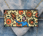 Van Gogh Sun Flower Pin