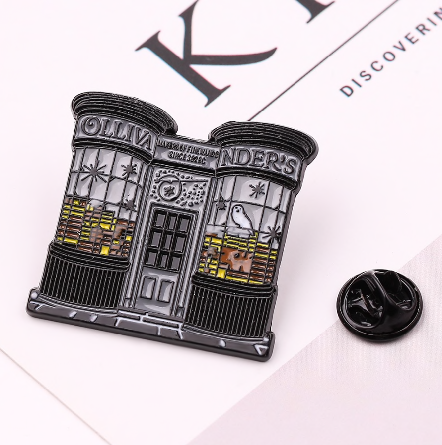 Ollivanders Magic Wands Store Enamel Pin