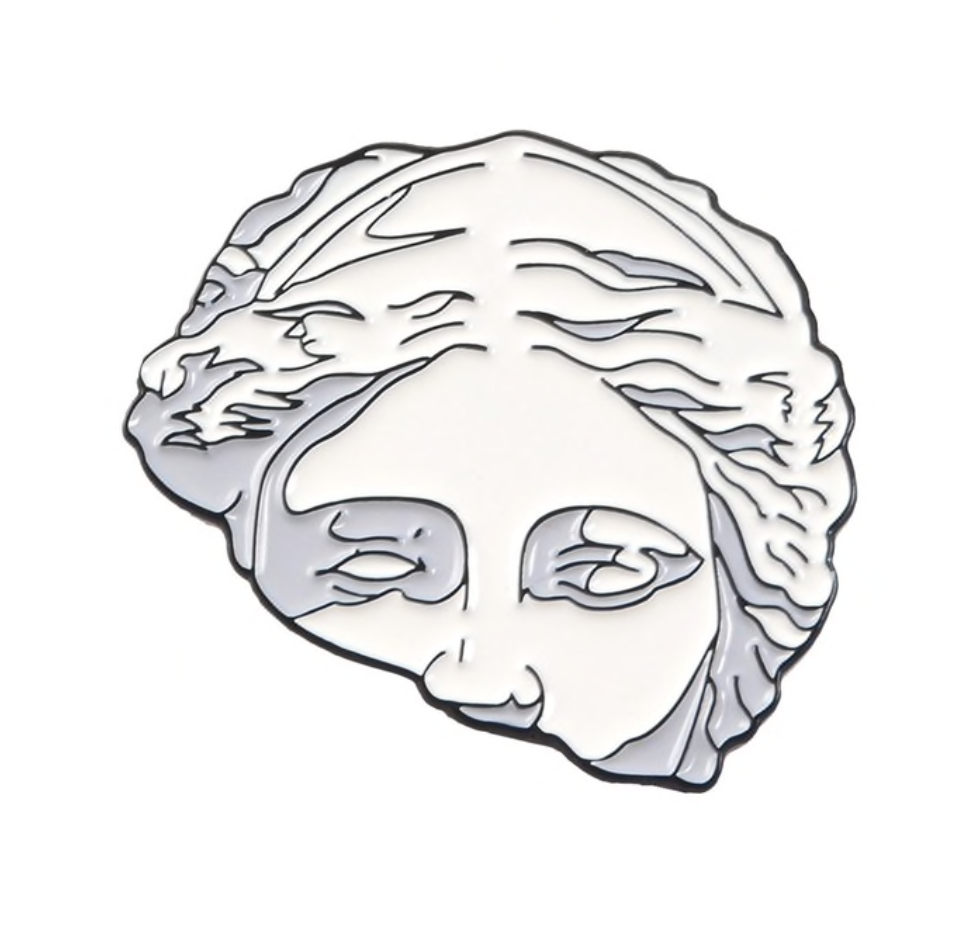 Split Head Sculpture Pin
