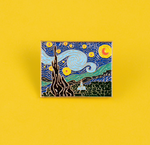 The Starry Night Enamel Pin