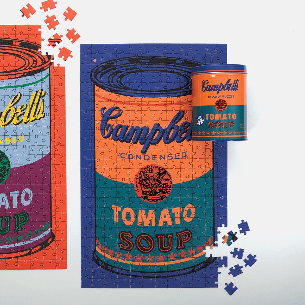 Andy Warhol Campbell's Soup Can 300 Piece Puzzle in a Tin