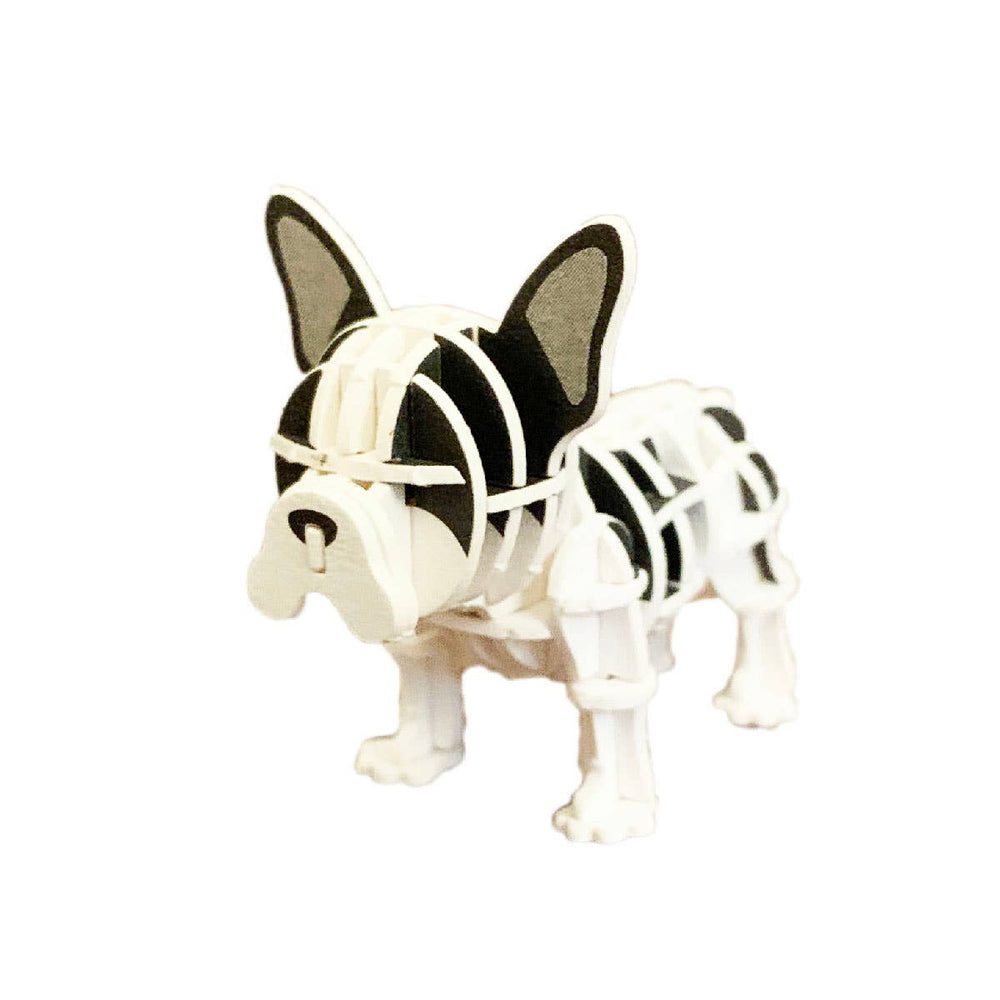 JIGZLE French Bulldog (B&W) 3D Paper Puzzle Miniature Anima
