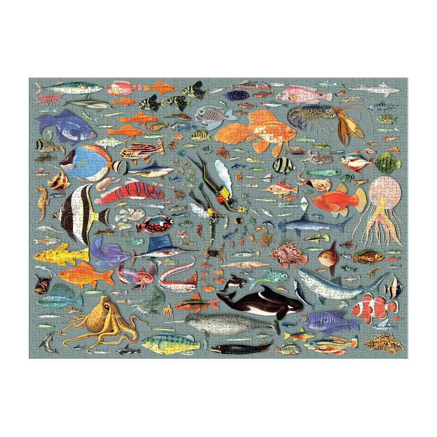 The Deepest Dive 1000 Piece Puzzle, with Shaped Pieces