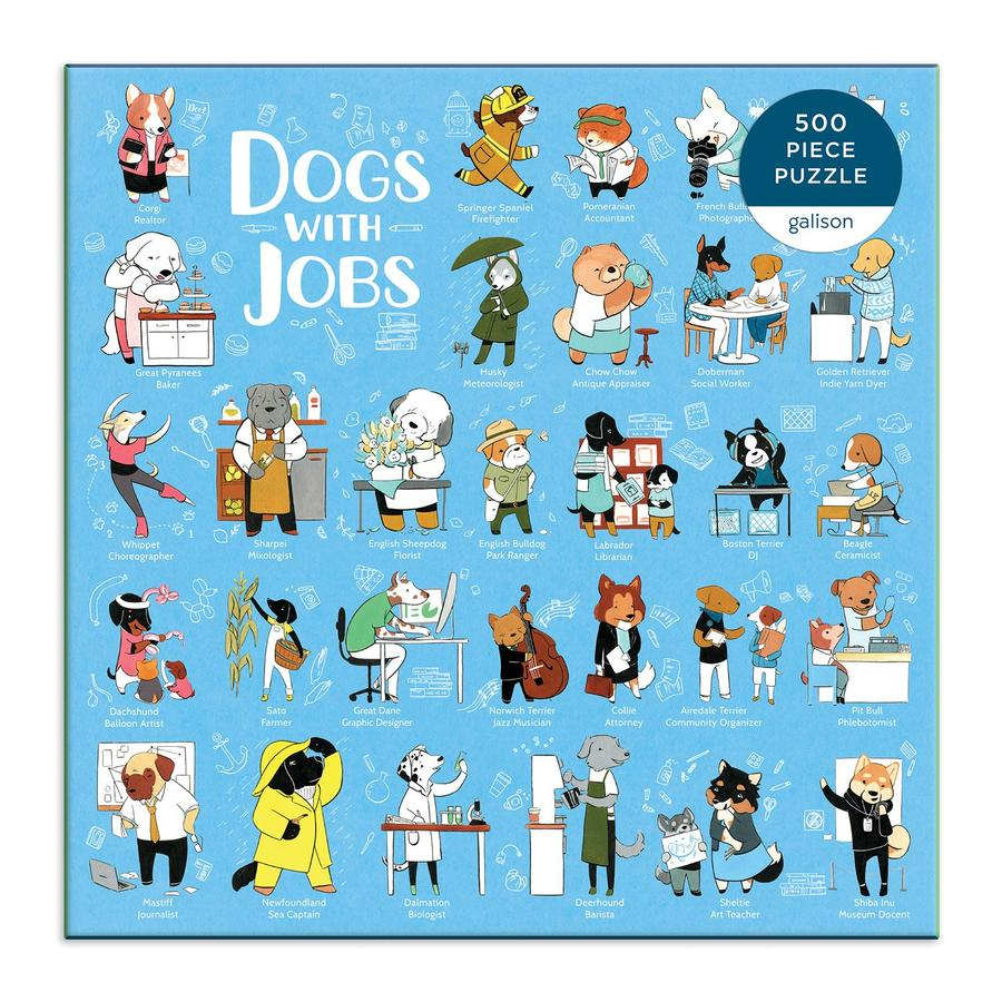 The Dogs With Jobs 500 Piece Puzzle