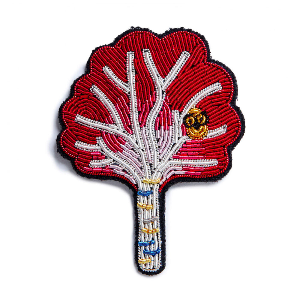 Maple Tree Embroidered Brooch