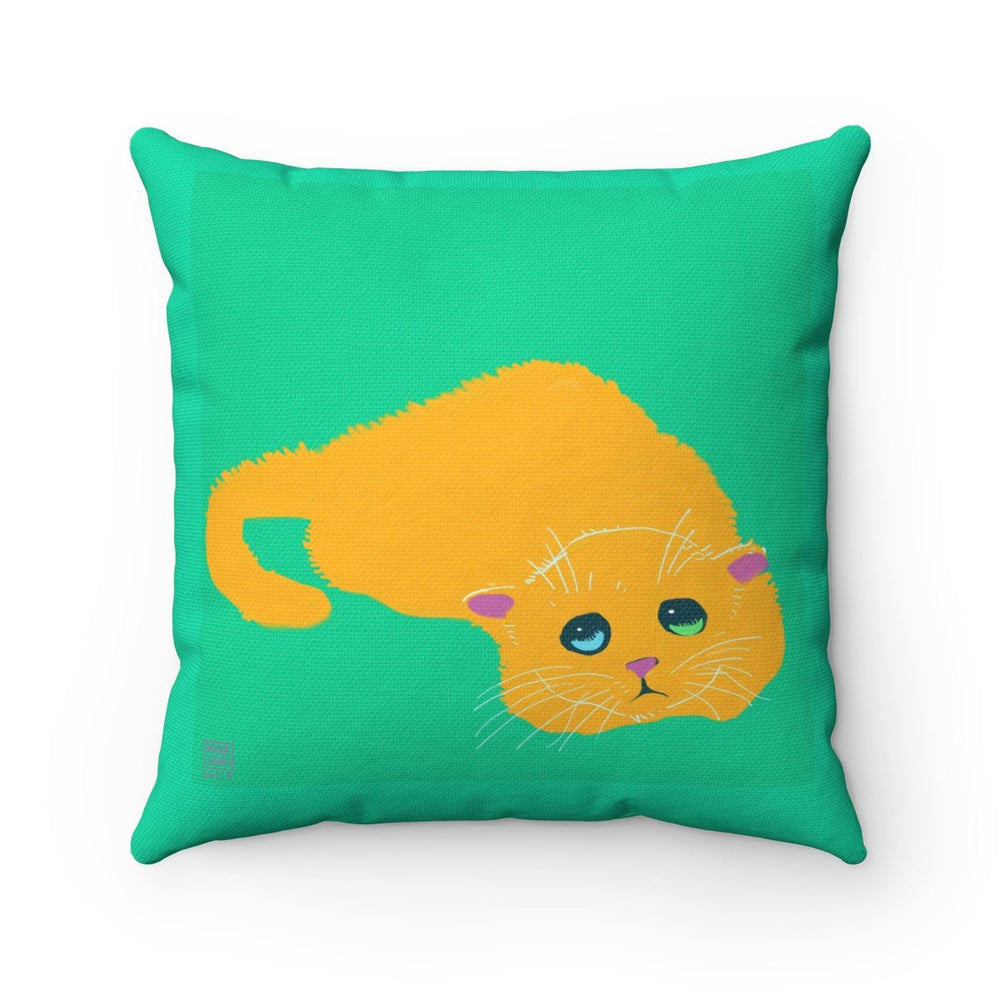 HENBUHAO Yellow Cat Pillow