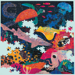 Puzzle Bundle Deal-A Set of 2 Illuminated Jigsaw Puzzle 500 Piece: Ocean Glow In the Dark and Space Glow In the Dark