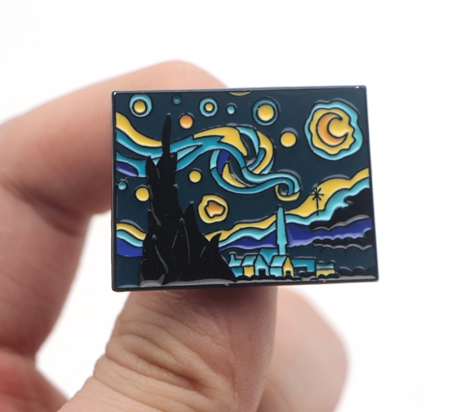 Van Gogh Enamel Pin - Staring Night