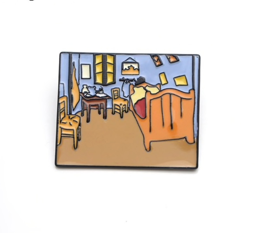 Van Gogh Enamel Pin Collection-Bed