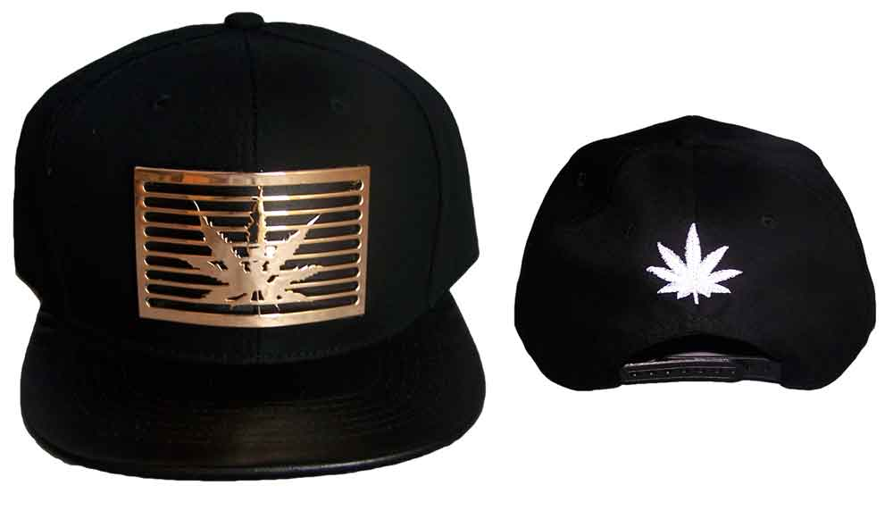 Brim Snap Back Caps With Metal