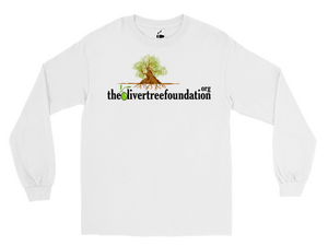 WHITE LONG SLEEVE T-SHIRT - The Oliver Tree Foundation