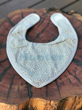 Baby Bandana Bib - Gray stripes