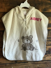 Childs Embroidered Towel Bear Poncho